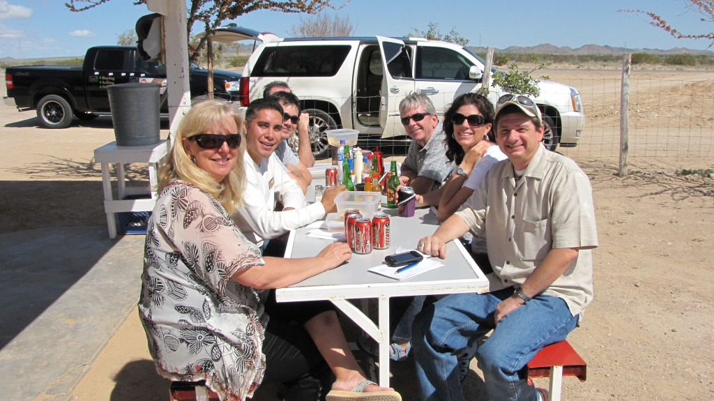 Realty Executives Team Stopping for Lunch on way to Santo Tomas