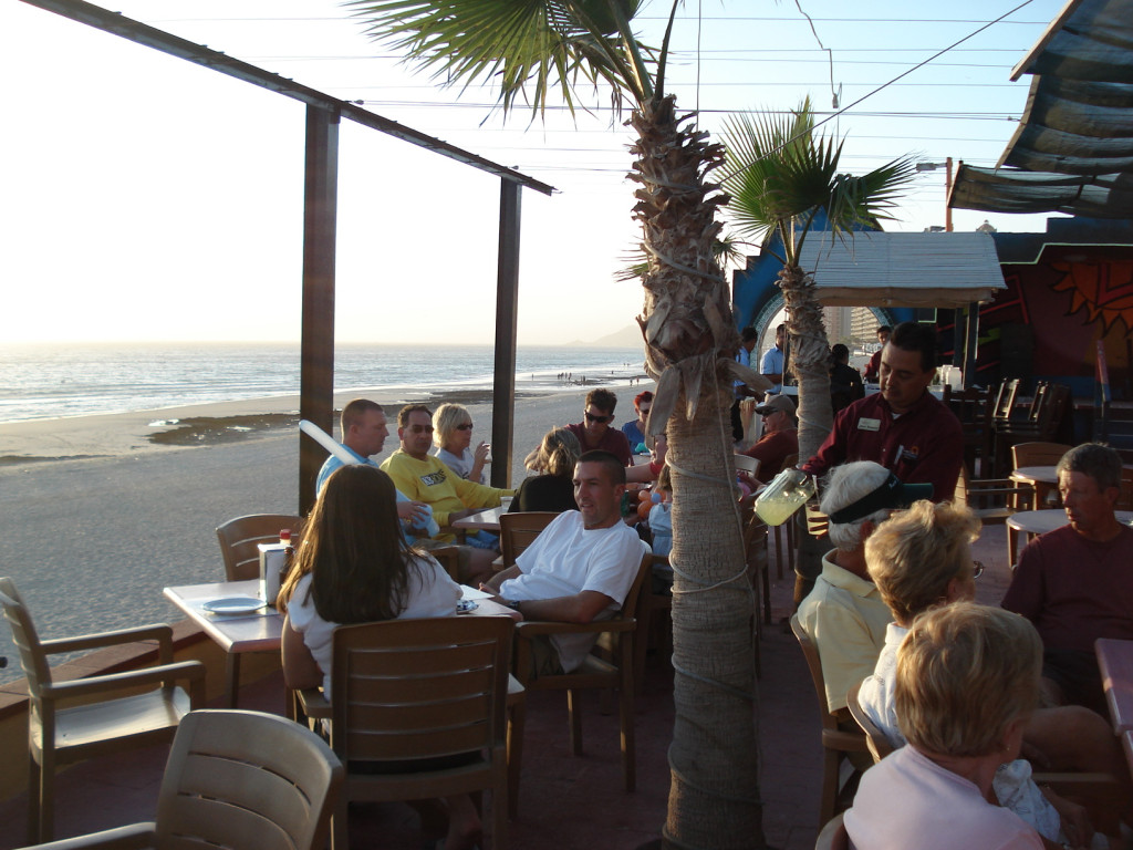 Ocean front dining in Rocky Point Mexico