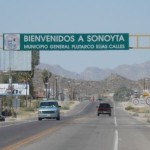 Entering Sonoyta at Lukeville Border